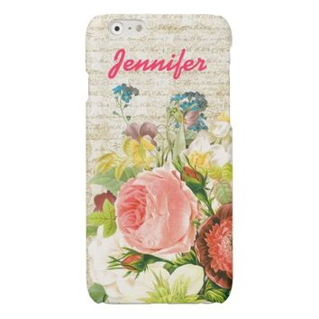 Girly Pastel Floral Personalized