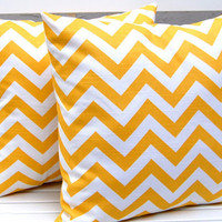 Chevron PIllows Toss Pillow Covers 18 x 18 by FestiveHomeDecor