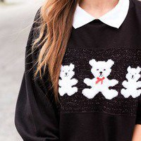 tea and tulips boutique - one of a kind vintage. — three teddy bears sweater