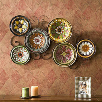 Delfina italian scattered plates wall art from cost plus world for World market wall decor