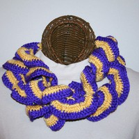 Ruffled Scarf Purple Gold Team Spirit