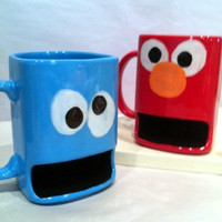 Monster and Friendly Characters Kids Cookie Dunk and Milk Mug