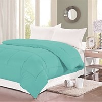 400 TC Natural Cotton Twin XL Comforter - College Ave - Aqua Haze College Bedding Dorm Comforter Aqua Comforter Twin XL Bedding