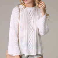 Thin Overized Cable Knit Sweater