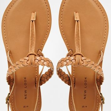 New Look Gisela Tan Barely There Flat Sandals