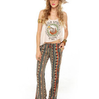 Obey Wanderer Bell Bottoms - Print Pants - $70.00