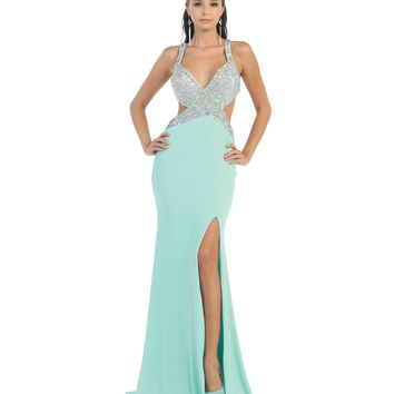 Sexy Seafoam Green Gown Prom 2015