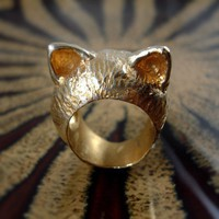 The Golden Kitten Ring I&#x27;m All Ears Series by TheGoldenPlague