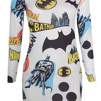 Funky Batman Print Mini Dress from CherryKreations21