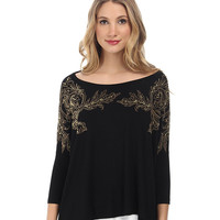 Versace Collection Dolman Sleeve Embellished T-Shirt