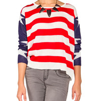 Star Spangled Sleeve Knit Sweater - 2020AVE