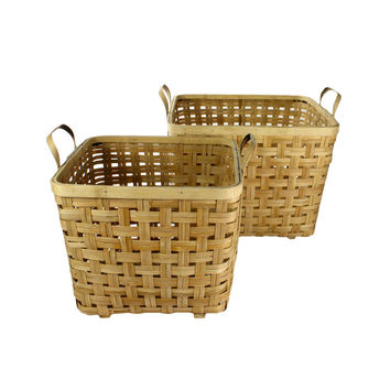 Woven Bamboo Baskets - Set of 2