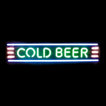 Cold Beer (Right Here!) Sign
