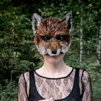 Red Fox Mask, Woodland Fox Mask