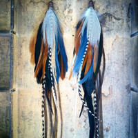 One-Oh-Nine's Extra Long Feather Eearrings