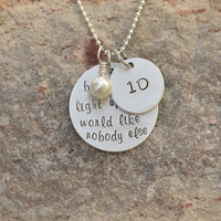 One direction necklace - Hand stamped necklace - One Direction