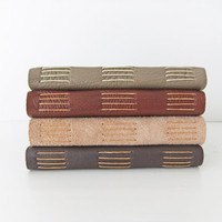 Handmade Leather journal - reclaimed leather journals and suede journals - choice of colours in suede and leather