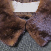 Vintage Brown Mink Fur Collar
