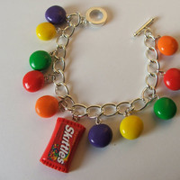 Taste the Rainbow....................Skittles Charm Bracelet