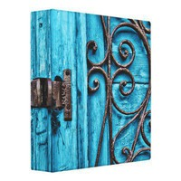 Terquoise And Wrought Iron Binder from Zazzle.com