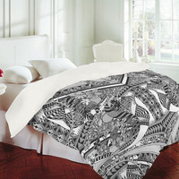 DENY Designs Home Accessories | Geronimo Studio Grey Folk Duvet Cover