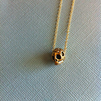 Antique Gold Sugar Skull Necklace