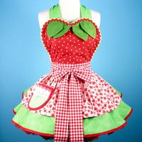 Strawberry Shortcake Baby Doll Apron Made To Order by dotsdiner