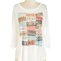 ModCloth Travel Mid-length 3 Road Trip Bingo Top