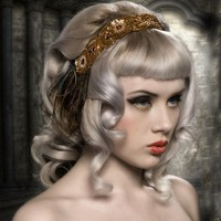 The Carina  Flapper Headband  Burlesque by topsyturvydesign