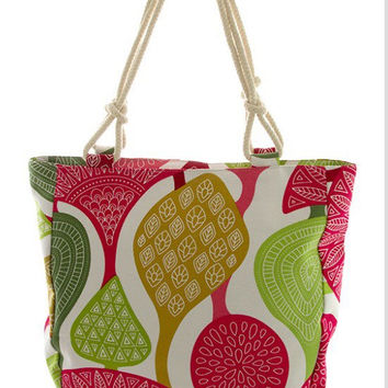 Summer Tote Bags  Market Canvas Teacher Gift for mom - By PiYOYO
