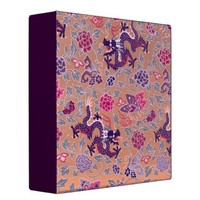 Purple Dragons Pink and Purple Flowers Pattern