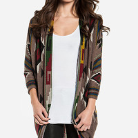 DailyLook: Tribal Cocoon Cardigan in Multi-colored M