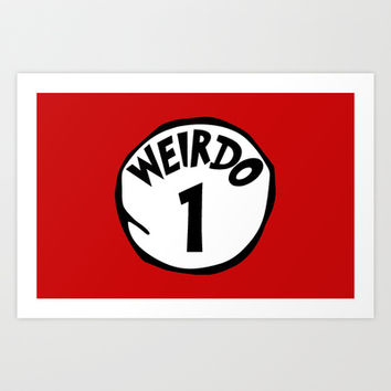 Weirdo1 Art Print by Moop