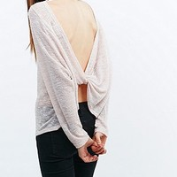Pins & Needles Knot Back Jumper in Nude - Urban Outfitters