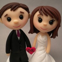 Wedding Cake Topper - Custom Made -.. on Luulla