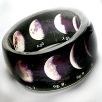 stages of the moon  translucent resin bangle SCIENCE by bethtastic