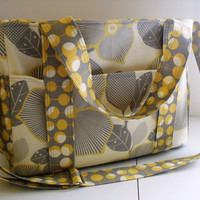Large Diaper bag Made of Amy Butler Optic Blossom