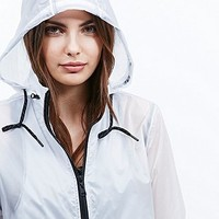Without Walls Light Windbreaker Jacket in White - Urban Outfitters