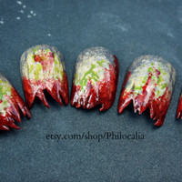 Halloween Zombie Nails