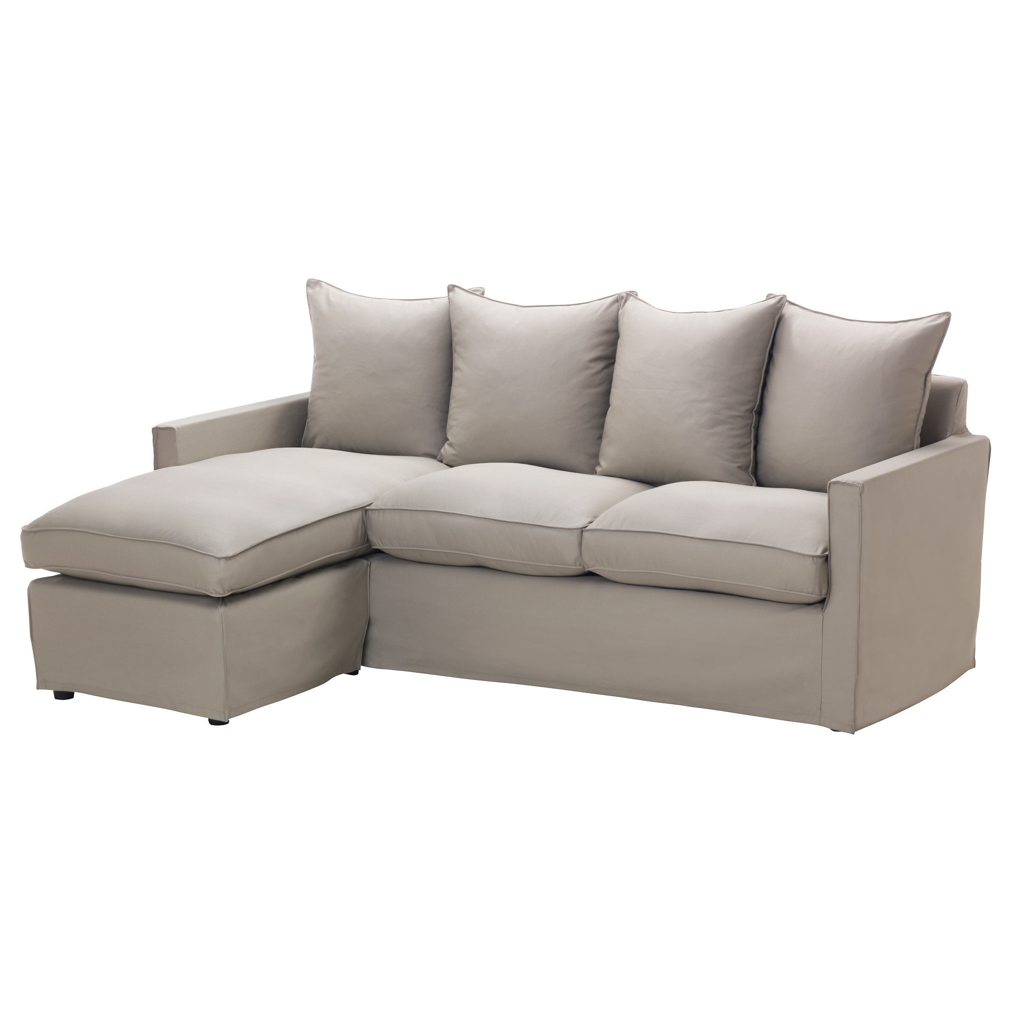 Ikea sofa and chaise lounge for Chaise longe sofa