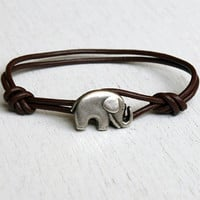 Elephant Leather  Bracelet (11 colors to choose)