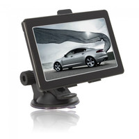 """Bluetooth 5.0"""" Color TFT Touch Screen Car GPS Navigator FM with 4GB Memory Black (T5) - Default"""