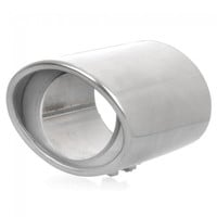 A33 Stylish Stainless Steel Protection Car Exhaust Pipe Muffler for Honda CRV Silver - Default