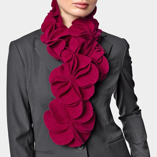 Sculptural Flower Scarf