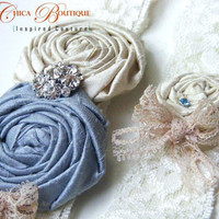 Something Blue Vintage Romance Bridal Garter by TheChicaBoutique