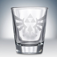 Legend of Zelda Triforce Crest Logo Shot Glass