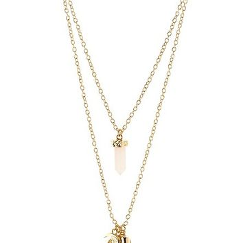 Mystical Layering Necklaces - 2 Pack by Charlotte Russe - Gold