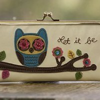 Natural Life Hinge Wallet - Let It Be
