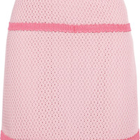 Moschino Cheap and Chic Open waffle-knit cotton-blend mini skirt – 50% at THE OUTNET.COM