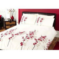 Dreams 'n' Drapes, Oriental Flower Quilt Set Red, King: Amazon.co.uk: Kitchen  Home
